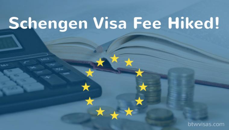 schengen visa fees hiked