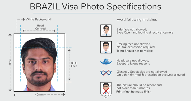 brazil business visa photo specifications