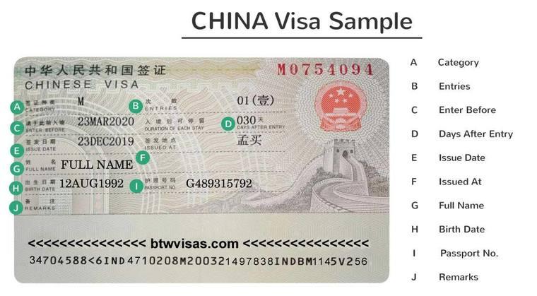china visit visa