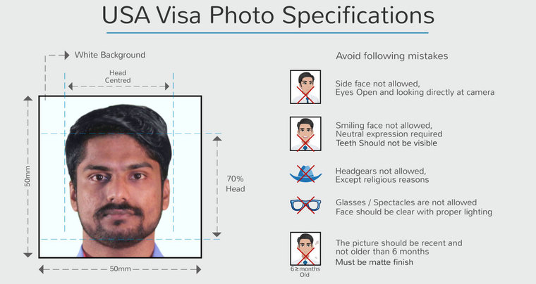 photo specifications for usa visa