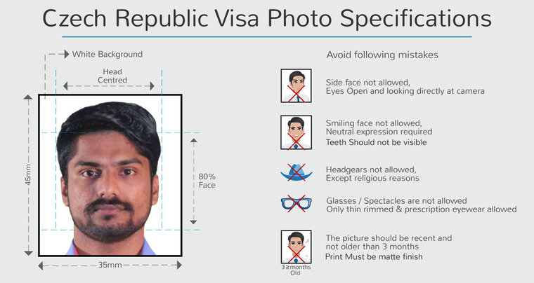 photo specifications for czech republic tourist visa