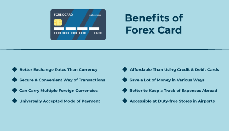 benefits of forex cards