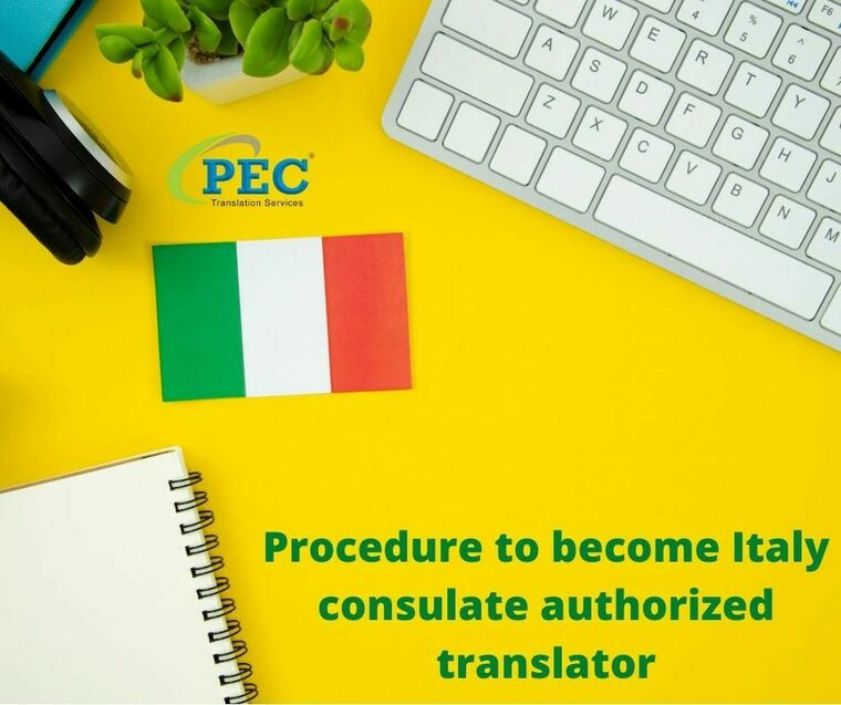 Large procedure to become italy consulate authorized translator