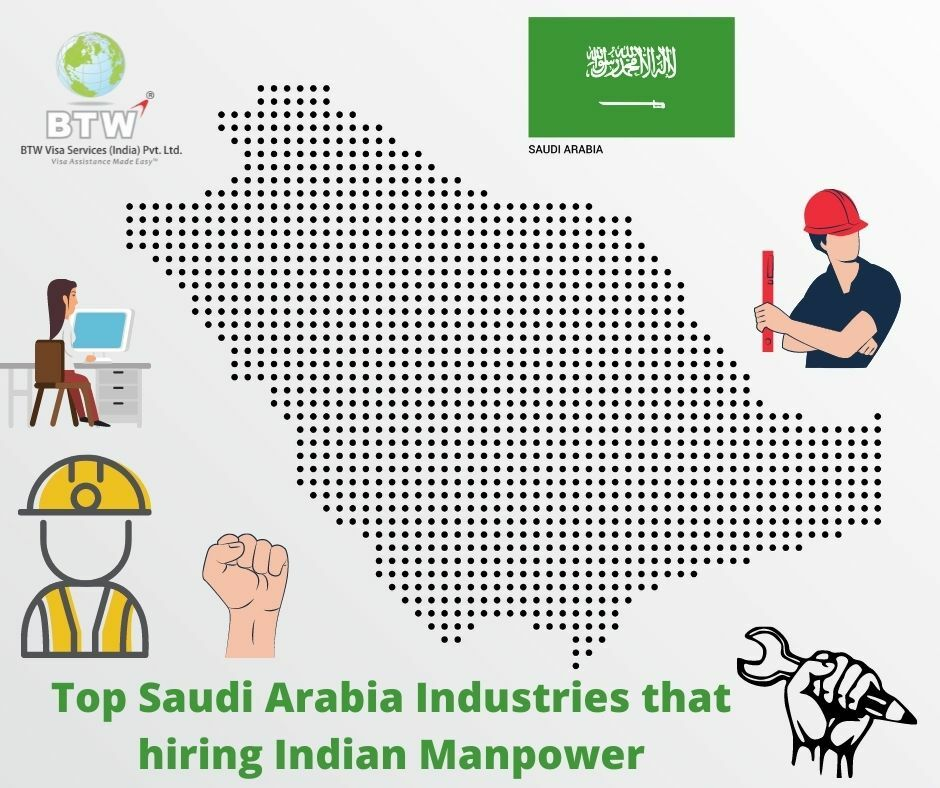 Top saudi arabia industries that hiring indian manpower  1