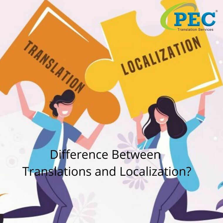 Large difference between translations and localization