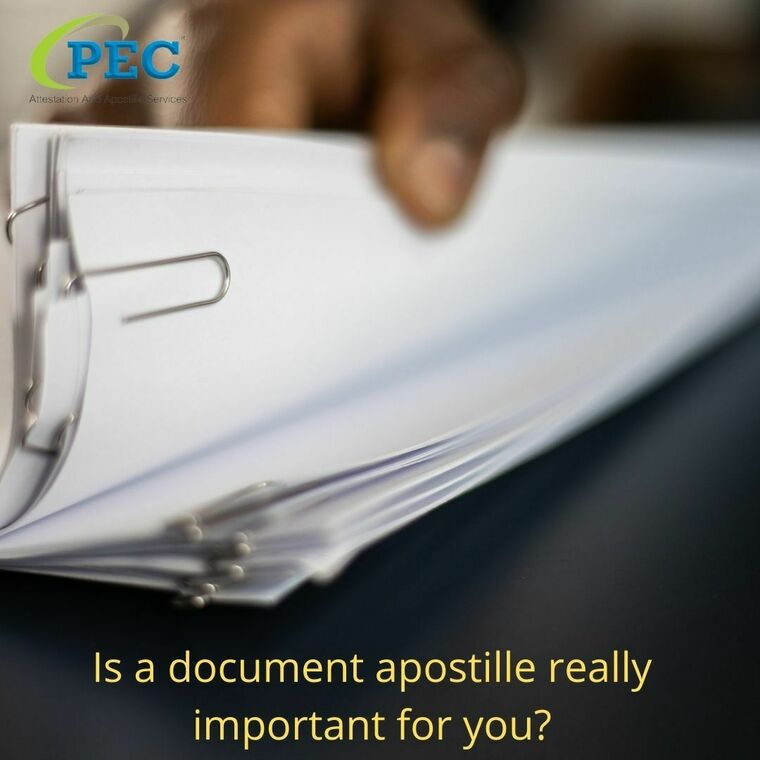 Large is a document apostille really important for you