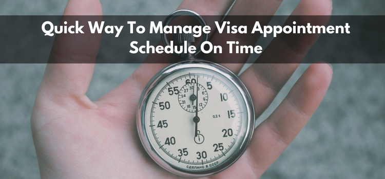 Visa appointment schedule
