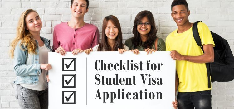 Checklist for student visa application