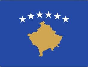 Kosovo framed flag