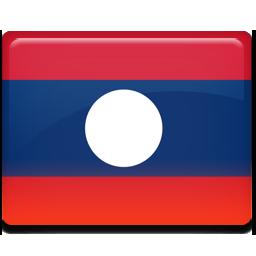 Laos flag 256