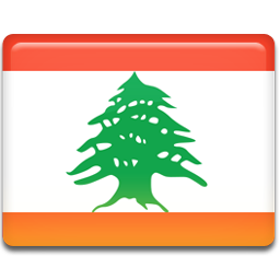 Lebanon flag 256