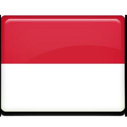 Monaco flag 256