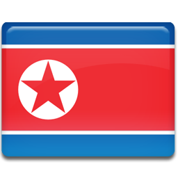 North korea flag 256