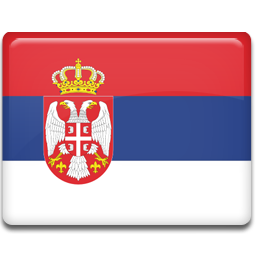 Serbia flag 256
