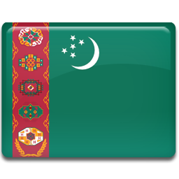 Turkmenistan flag 256