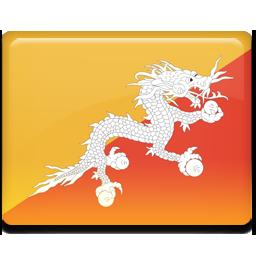 Bhutan flag 256