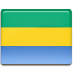 Gabon flag 256
