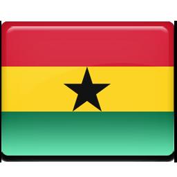 Ghana flag 256